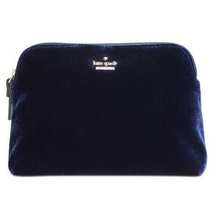 Kate Spade Watson Lane Briley Velvet Cosmetic Bag